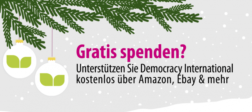 Democracy International gratis unterstützen