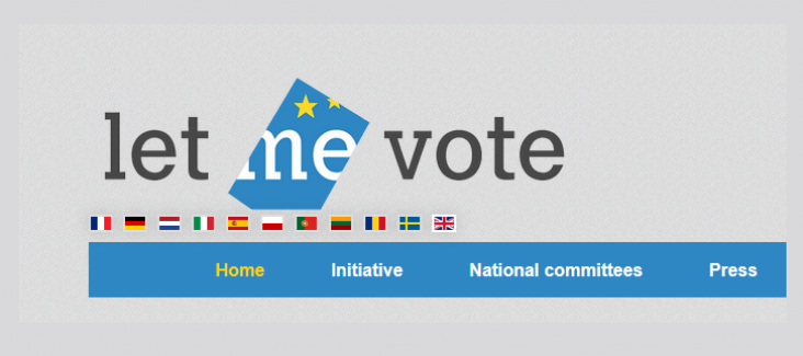 """The logo of the ECI """"Let me vote"""""""