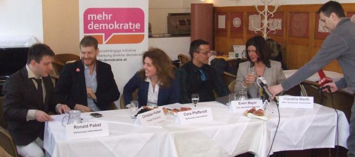 Press conference Democracy International and mehr demokratie! Austria in 2013