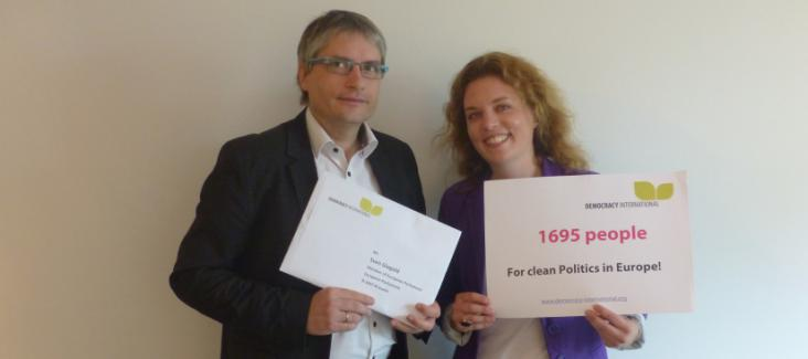 Sven Giegold, Member of European Parliament and Cora Pfafferott, representing Democracy International