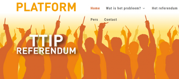 Screenshot of the platform where people can sign the petition