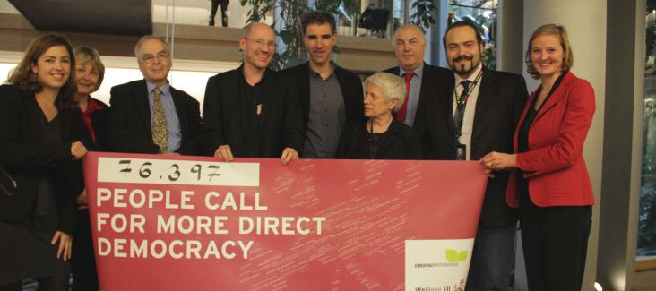 The campaigners meet with MEPs in Strasbourg on 28 October