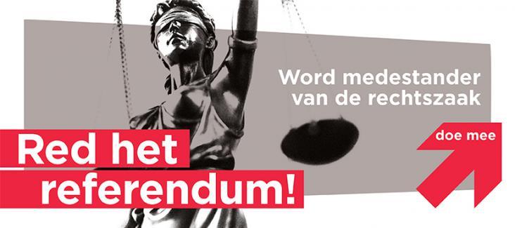 Bild der Kampagne 'Red het Referendum' von Meer Democratie