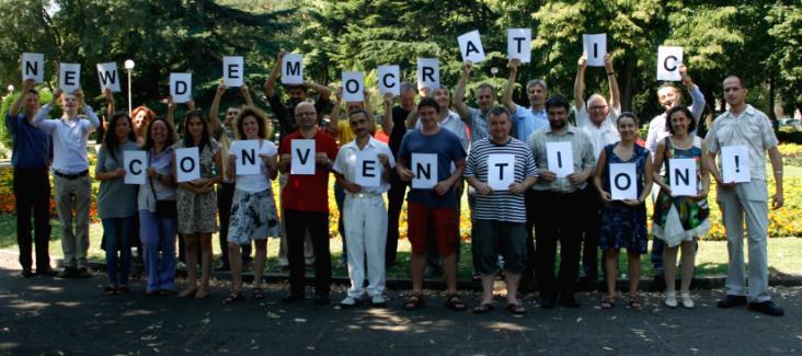 Democracy International : Participants of the Summer Academy 2012 in Burgas, Bulgaria