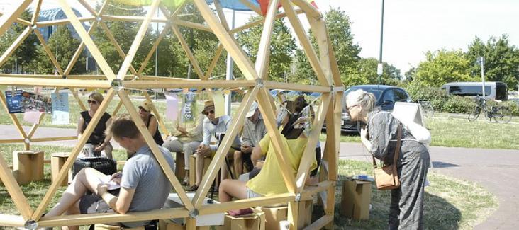 Unsere European Public Sphere beim Campfire Festival