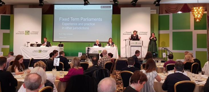 The Irish Citizens' Assembly of 2017 discussed fixed-term parliaments