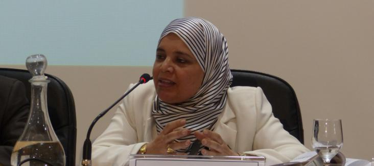 Ms Labidi of the political party Ennahdha