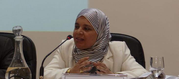 Ms Labidi of the political party Ennahdha