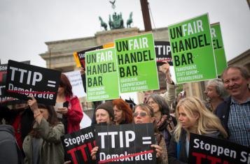 Protests against TTIP in Berlin, Image: Mehr Demokratie e.V.