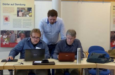 Gerhard Schuster, Andreas Müller and Gerhard Meister at Democracy International's Summer Academy