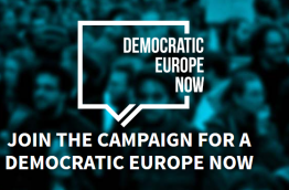 "Website of Campaign ""Democratic Europe Now!"""