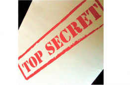 An old envelope with the heading: Top secret. Photo by Nina M., Flickr