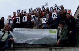 The participants of the Danube Democracy Rally in Bratislava