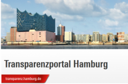 A screenshot of the new transparency portal in Hamburg