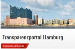 A screenshot of the new transparency portal in Hamburg