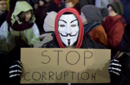 Anti-corruption protests in Romania (image: swissinfo.ch)