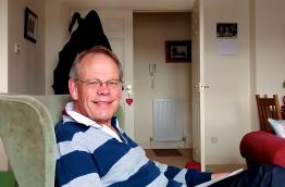 John D Wright at home in Perthshire, Scotland
