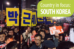 Candlelight rally against Park Geun-hye. Foto credit Teddy Cross (CC BY 2.0)