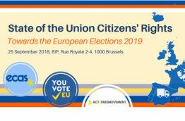 Home » Events » State of the Union… State of the Union Citizens' Rights: Towards the European Elections 2019