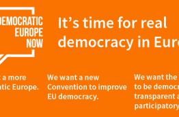Banner Democratic Europe Now!